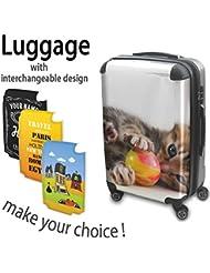 Colección 133, Custom Maleta Rigida Equipaje con 4 Ruedas de 360° Spinner Trolley Hand Case Shell Cover Trolley Travel Bag