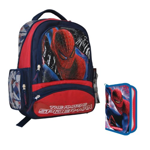Set Zaino The Amazing Spiderman 41x30x13 piu Astuccio
