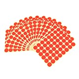 #10: Imported 720Pcs 25mm Dots Sticker Round Circle Blank Labels Self Adhesive- Red