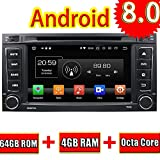 ROADYAKO Android 8.0 Auto Media für Vw Touareg/Multivan 2008 2009 2010 2011 2012 Autoradio Stereo GPS-Navigation 3G WiFi Spiegelverbindung RDS FM AM Bluetooth