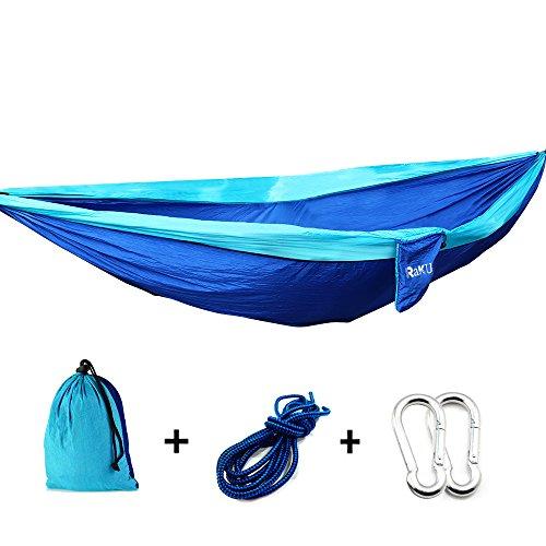 Raku® 2 persona Portable hamaca Outdoor viajar camping o jardín hamaca tejido...