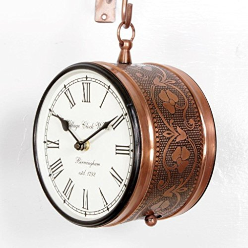 D'Dass Double Sided 8 Inches Railway Station Clock/Platform Analog Wall Clock