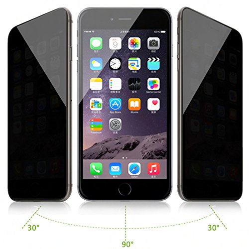 Privacy Screen Protector Guard (solobay für iPhone 6 Plus Glas Screen Schutzfolie, Privacy Full Cover Tempered Glas für iPhone Sichtschutz Privacy Displayschutzfolie)