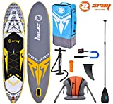 Zray X-Rider X2 10.10 SUP Board Stand Up Paddle Surf-Board Kajak-Sitz Carbon Mix Paddel Leash