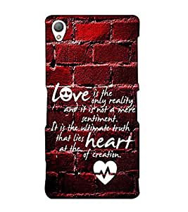 Fuson Designer Back Case Cover for Sony Xperia Z3 :: Sony Xperia Z3 Dual D6603 :: Sony Xperia Z3 D6633 (Love is the only reality theme)