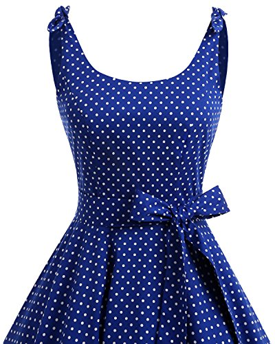 bbonlinedress 1950er Vintage Polka Dots Pinup Retro Rockabilly Kleid - 4