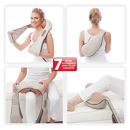 Donnerberg NM-089 appareil de massage shiatsu pour nuque, épaules, dos, abdomen, mains, jambes, pieds | Notre avis sur l'appareil de massage Donnerberg ?