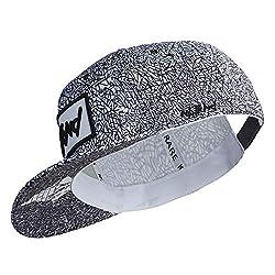 Nebelkind Unisex Snapback Cap Linien Kappe Weiß Schwarz One Size