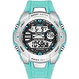 Beydodo Reloj a Prueba de Golpes Reloj Impermeable Relojes Electronicos Reloj de Estudiante Reloj Hombre Reloj Deportivo Azul Lago