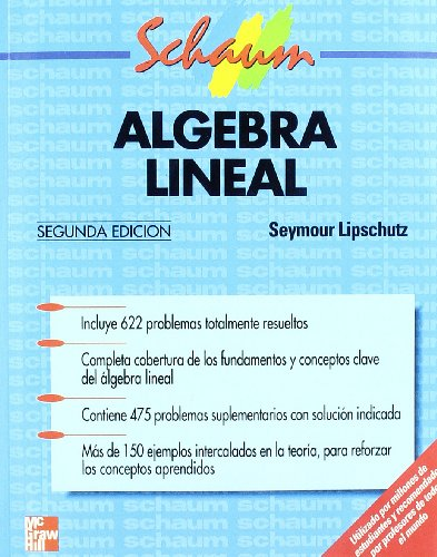 Algebra Lineal (Serie Schaum) por Seymour Lipschultz