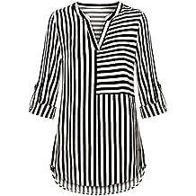 quality design 0f149 38716 camicia a righe donna - Amazon.it