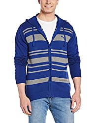 Puma Mens V-Neck Wool Sweatshirt (4055263589140_83590101-L_Sodalite Blue)