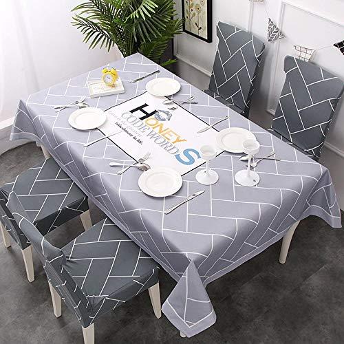 hokkk Nordischen Stil Rechteck Tischdecken Polyester Home Küche Flamingo Tischdecke Party Esszimmer Dekorative 6 stücke stuhlabdeckung Farbe 9 - 9 Stück Esszimmer