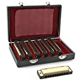 Jeu dHarmonicas Blues Dorés Gear4music