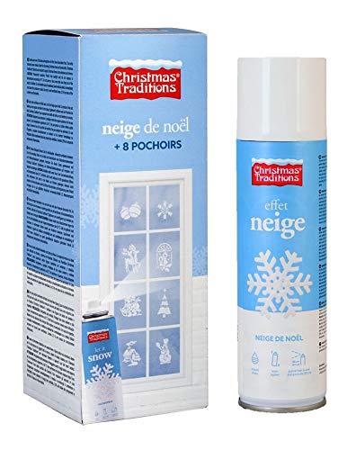 Generique - Schneespray für Weihnachten mit Schablonen