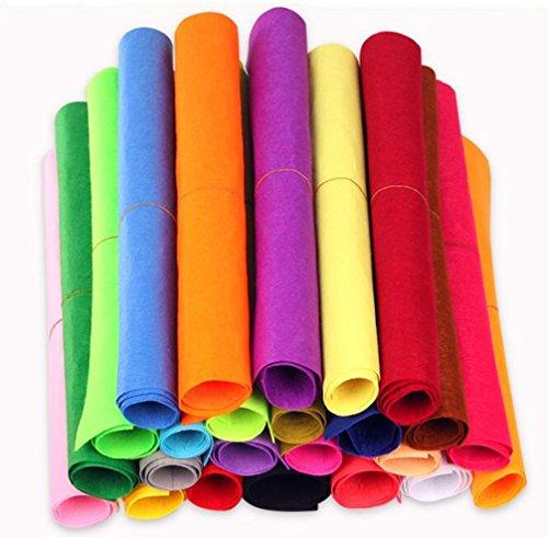 COSORO 5 Farben Filzstoff 50 x 40cm Bastelfilz Filz Blätter Polyester Felt Fabric DIY Stoff filzplatten (10Colour)