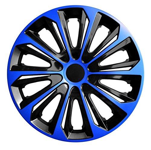 Set-4-Copricerchi-DUOCOLOR-Copricerchi-16-pollici-16-NERO-BLU-Black-Blue