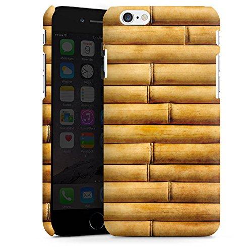Apple iPhone X Silikon Hülle Case Schutzhülle Bambusmatte Bambusrohre Look Muster Premium Case matt