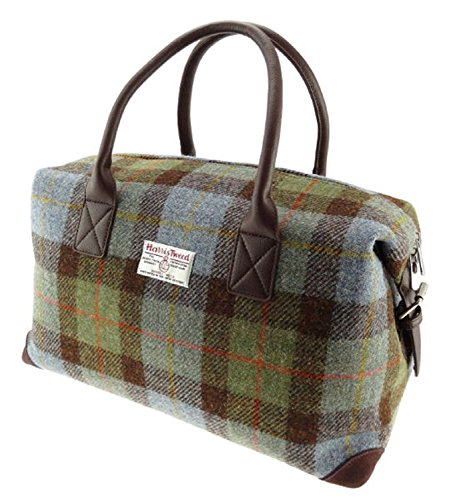Green-Check-Holdall-Unisex-Bag-Harris-Tweed-LB1006-COL15