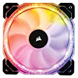 Corsair CO-9050065-WW HD Series HD120 120 mm Low Noise High Pressure Individually Addressable RGB LED Case Fan - Black