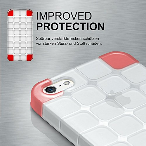 iPhone 6S Hülle Silikon Transparent Schwarz [OneFlow Cube Back-Cover] Ultra-Slim Silikonhülle Dünn Handy-Hülle für iPhone 6/6S Case TPU Schutzhülle CRYSTAL-CLEAR