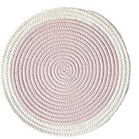 WEKDU Mantel individual Multicolor Ronda de algodón Posavasos Inicio de aislamiento Mat/cojín de la tabla de tela impermeable Accesorios de cocina Decoración Hogar (Color : Pink, Size : 18cm)