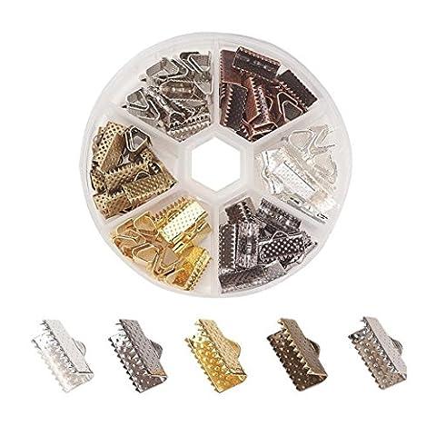 Embouts 13mm en 6couleurs dans une boîte en plastique bastel Express