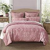 Bettwäsche Set 100% Polyester Bettdecke Bettwäsche Bettbezug Kissenbezüge King Size Stone Washed, Multicolor (Farbe : Rosa, Größe : Small)