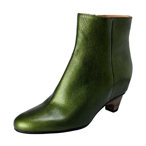 maison-margiela-22-womens-green-textured-leather-ankle-boots-shoes-us-7-it-37