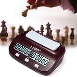 Joyeee Multifuncional Digital Reloj de ajedrez #2, Reloj Digital para Jugar al ajedrez | Contador de Tiempo | Temporizador de Cuenta Atrás, Temporizador Profesional de Ajedrez Pantalla de Precisión
