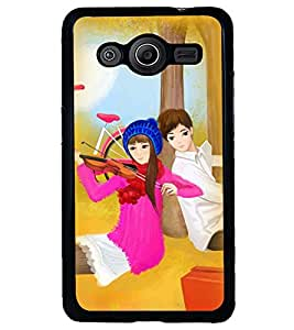 Printvisa Love Couples With A Violen Back Case Cover for Samsung Galaxy Core 2 G355H