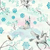 Arthouse Imagine Fun Fairytale Ice Blau Tapete 667800-Glitzer Kinder