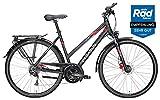 Pegasus Trekkingrad Solero SL Disc Damen Trapez schwarz-rot 2018 Gr. 45 cm