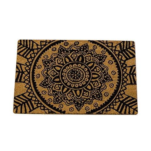 Unbekannt Felpudo Diseño Mandala 60x40 cm Cocos