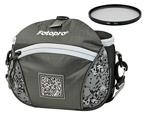 Foto Tasche Kamera Bag Gürteltasche Rollei FB-S + UV Filter 40,5mm für Sony Alpha Nikon Coolpix und andere