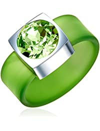 Rafaela Donata Fashion Collection Bague silicone vert orné de cristaux de Swarovski® marron 60917146