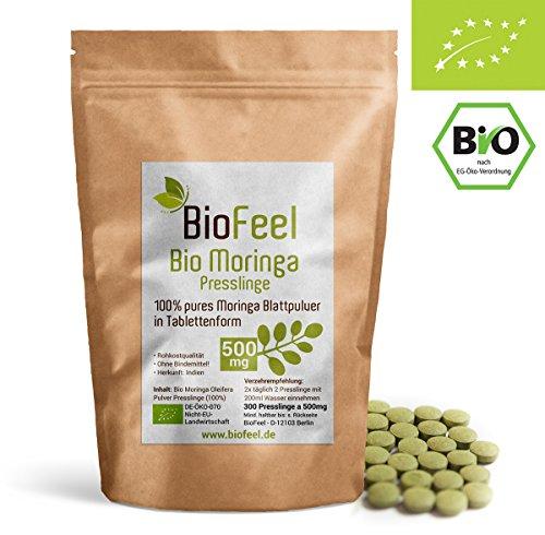 500 Mg 300 Tabletten (BioFeel - BIO Moringa Tabletten, 500mg - Presslinge - 300 Stk.)