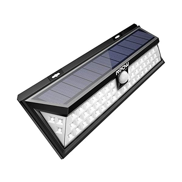 Mpow 54 LED Security Lights, Solar Powered Lights Outdoor Wall Lamp 1