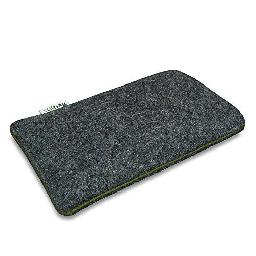 Stilbag Filztasche 'FINN' für Apple iPhone 4/4S - Farbe: hellgrau/schwarz anthrazit/khaki