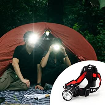 CREE XML T6 LED Lampe Phare Frontale Rechargeable 500lm 3 Mode Pour Vélo Camping