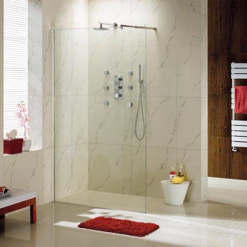 1000mm Wetroom Shower Enclosure Glass Screen Panel Set
