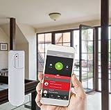 Blaupunkt Smart Home Alarm Q3000 Starter Kit; Smart Home Alarmanlage bzw. Funk-IP Sicherheitssystem für Haus, Wohnung, Geschäft, Ferienhaus; Bedienung per App oder Internetportal; drahtlos/funkbasierend; Kit bestehend aus: IP-Alarmzentrale, Funk-Bewegungsmelder (IR-S1L), Funk-Tür/Fenstersensor (DC-S1) - 4