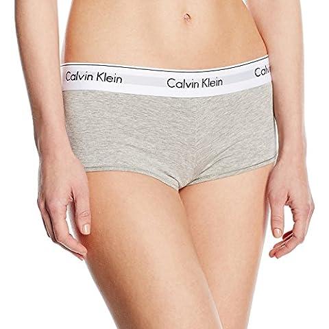 Calvin Klein Damen Panties MODERN COTTON - SHORT, Gr. 38 (Herstellergröße: M), Grau (GREY HEATHER 020)