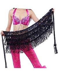 Geshiglobal - Cinturón de cintura para danza del vientre, disfraz de danza del vientre,