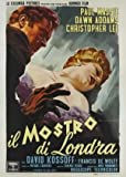 THE TWO FACES OF DR JEKYLL - CHRISTOPHER LEE - ITALIAN MOVIE FILM WALL POSTER - 30CM X 43CM