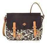 Oilily Damen M Shoulder Bag Umhängetasche, Grau (Charcoal), 7x23x31 cm