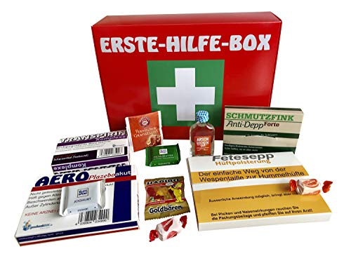 Erste Hilfe Box Notfall Scherzartikel Geschenk-Set