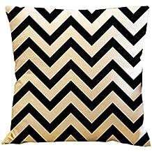 Laat Einfache Geometrische Dekorativ Motive Gewellt Kissenbezug Kissenhülle  Für Sofa U2013 20 X 20 Zoll (