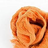 H-M-STUDIO FoulardsPliésArtMinimalisteOrangeGros FoulardsDouble Usage Hiver Châles Minces.Couleur Orange 160Cm