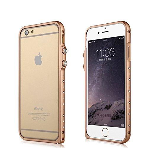 BASEUS cristal de diamant strass Bling Aluminium MŽtal Bumper Frame Case Pour Apple iPhone 6 6 Plus iphone 6 rose
